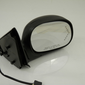 Mirror, Right Passenger Side, Power, Without Heat, With Signal, Manual Fold, Textured Base, Smooth, Black Cap