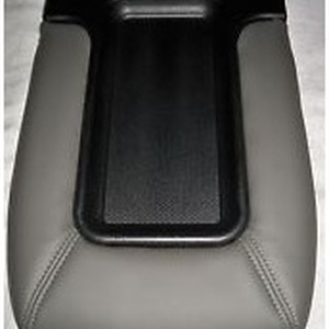 Center Console Lid Kit Front Row Split Bench Light Gray with Installation Instructions