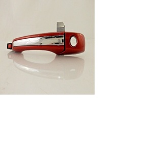 Door Handle, Exterior, Front, Left Driver Side, With Keyhole, Burnt Orange, With Chrome Insert, OEM