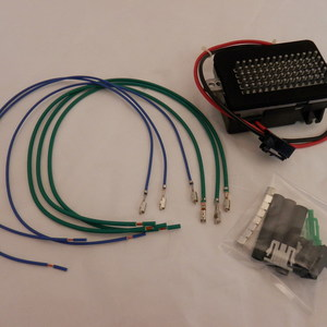 Blower Motor Resistor Kit with Automatic Temperature Control Includes Blower Motor Resistor and Wiring Harness Set